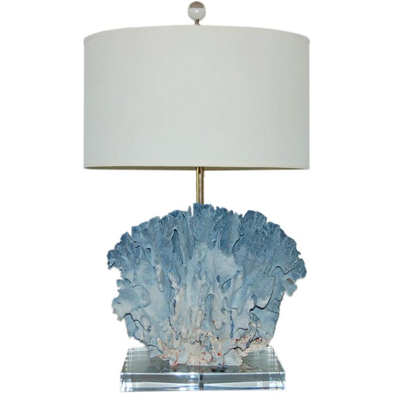 vintage blue coral lamp. Black Bedroom Furniture Sets. Home Design Ideas